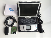 DA Dongle j2534 diagnostics device obd2 full interface software v145 hdd 160gb installed in laptop toughbook cf 19 touch screen