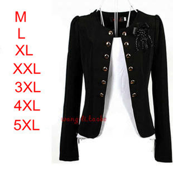 2018 Elegant New Fashion Women Blazer Woman Coat Jacket Corsage Outwear Black,yellow,white,pink,orange plus size L~3XXXL,4XL,5XL