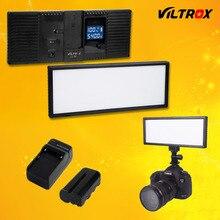 Viltrox L132T Pantalla LCD Bicolor y Regulable Delgado DSLR de Video LED Light + Batería + Cargador para Canon Nikon Videocámara DV de La Cámara