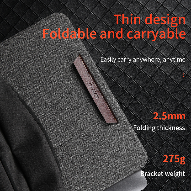 Image 5 - Leather Portable Laptop Stand Support Notebook Ultra Thin Base Notebook for 10 17 inch Holder laptop Stand for Macbook Thinkpad-in Laptop Stand from Automobiles & Motorcycles