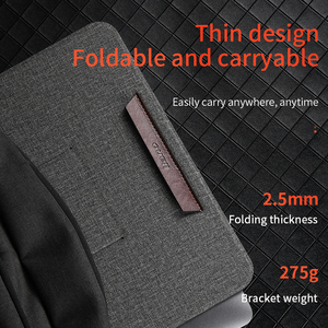 Image 5 - Leather Portable Laptop Stand Support Notebook Ultra Thin Base Notebook for 10 17 inch Holder laptop Stand for Macbook Thinkpad