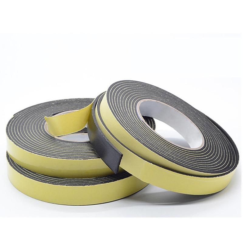 50M EVA Single Sided Adhesive Tape Weather Sticky Stripping Sponge Foam Rubber Strip Neoprene Tape Door Seal Width 10 mm in Sealing Strips from Home Improvement