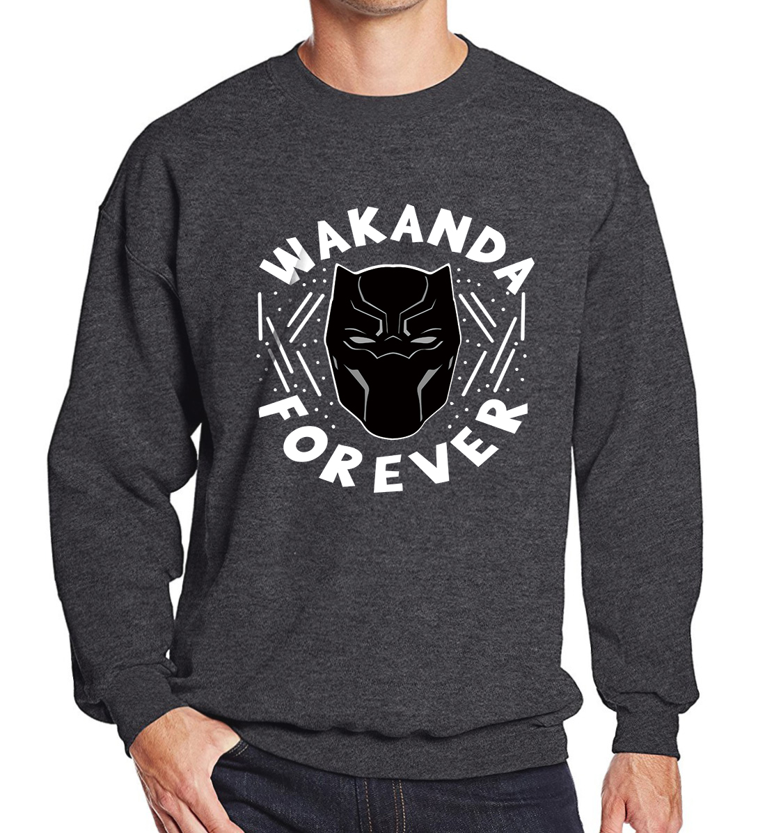 Mens Hoodie 2019 Autumn Winter Fleece Sweatshirt For Men WAKANDA FOREVER Fashion Streetwear Hoody Black Panther Harajuku Hoodies