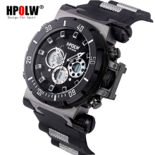 HPOLW Luxury Brand Mens Sports Watches Dive Digital LED Military  Watch Men Fashion Casual Electronics Wristwatches Clock купить недорого в Москве