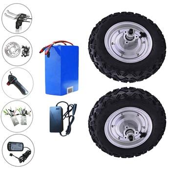 Kit de rueda de Motor de bicicleta eléctrica, 10 pulgadas, 24-48v, 350w-800W,...