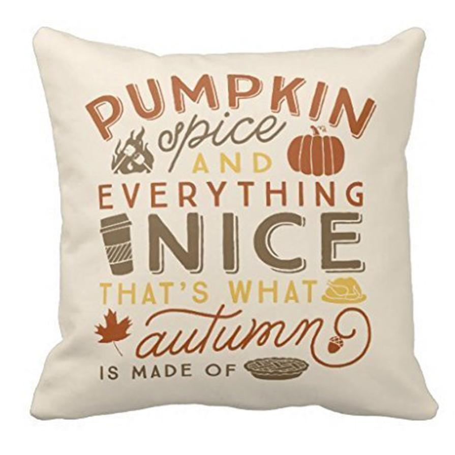 Halloween 45*45 Pillow case Decorative Throw Pillow Case Cover Pumpkin Spice Polyester cushion cover 2AU24