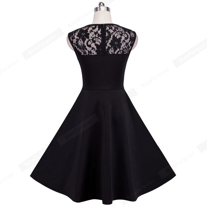 New Summer Style Ladylike Elegant Vintage LBD O Neck Sexy Lace ... c9bee703892a