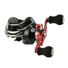 High Quality 12BB 6.3:1 Right Hand Baitcasting Fishing Reel Bait Casting Reels Red carretilha de pesca
