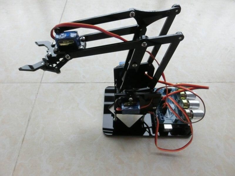 ערכת arduino רובוט זרוע רובוט טופר אקריליק DIY צעצועים מכאניים 4DOF מניפולטור לתפוס DIY