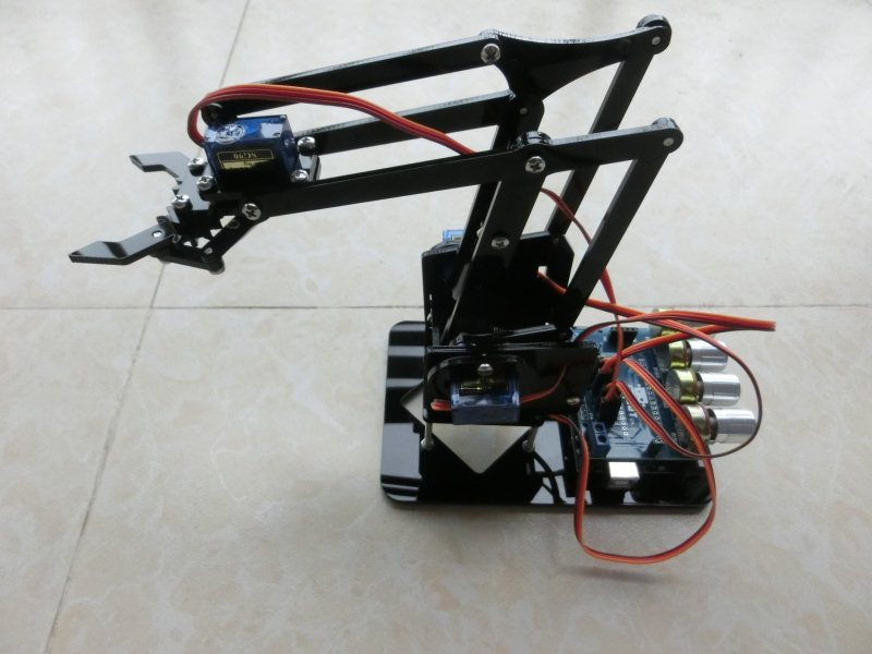 DIY Acrylique robot bras griffe de robot arduino kit 4DOF jouets grappin Mécanique Manipulateur DIY
