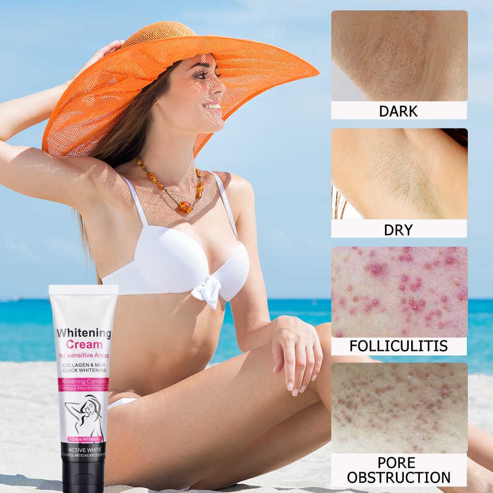 Отбеливающий крем для подмышек, подмышек, блестящий крем для тела, личные части, отбеливатель кожи, увлажняющее восстановление, крем для ног на коленях