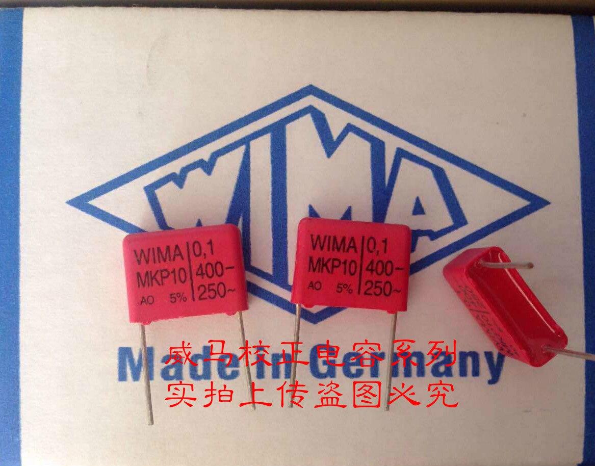 2019 hot sale 10pcs/20pcs Germany WIMA MKP10 400v 0.1uf 104 400v 100NF P: 15mm copper feet Audio capacitor free shipping