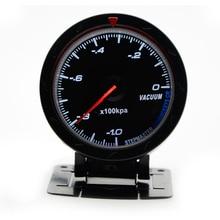 """2,"""" 60 мм 12 в автомобильный манометр, вакуумный манометр, черный циферблат с датчиком без логотипа"""