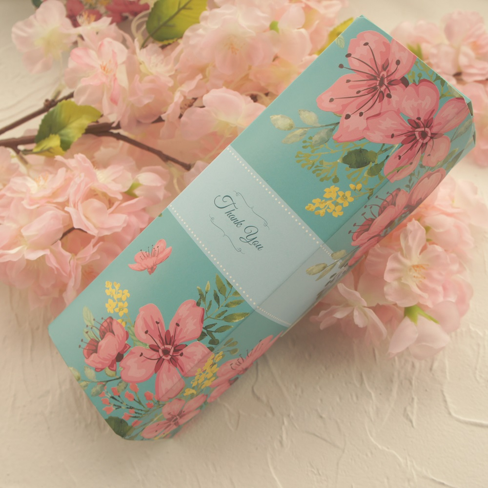 21 7 5cm 10pcs flower in garden thank you Paper Box Macaron Chocolate wedding Birthday Party Gifts Packaging Storage Boxes in Gift Bags Wrapping Supplies from Home Garden