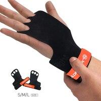 ProCircle кожа гимнастические ручки вес тренировки с поднятием тяжестей перчатки 3 отверстия с поддержкой запястья ладонь защита для Pullups Crossfit