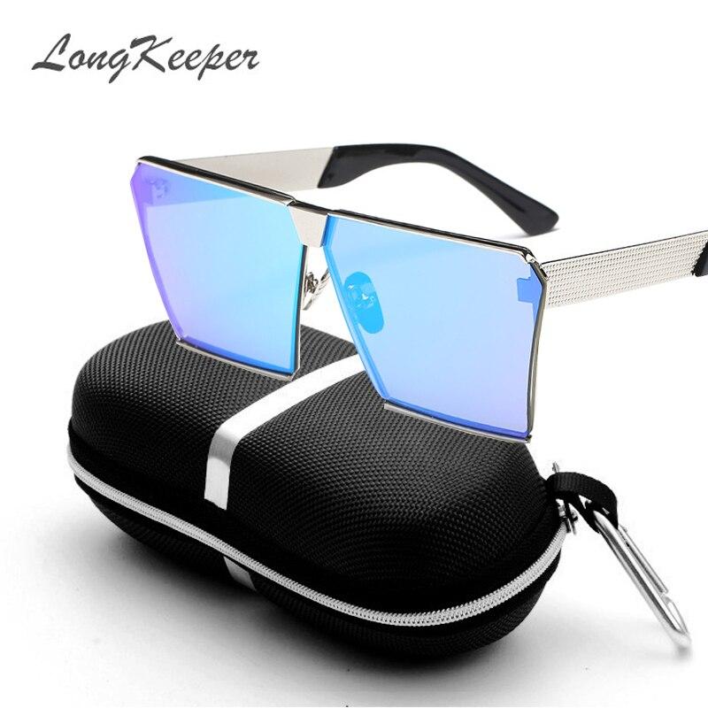 LongKeeper Nya färger Kvinnor Solglasögon Unika Oversize Shield - Kläder tillbehör - Foto 4