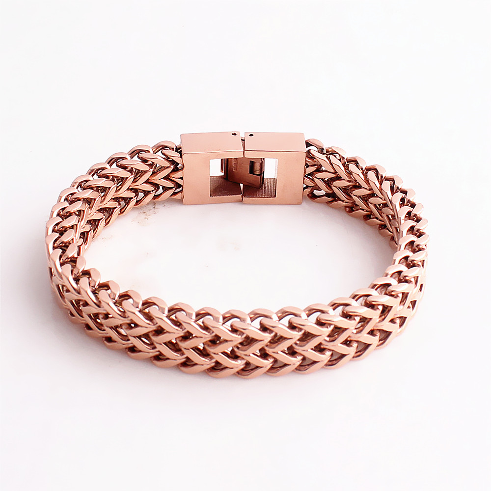 Rose gold mens jewelry