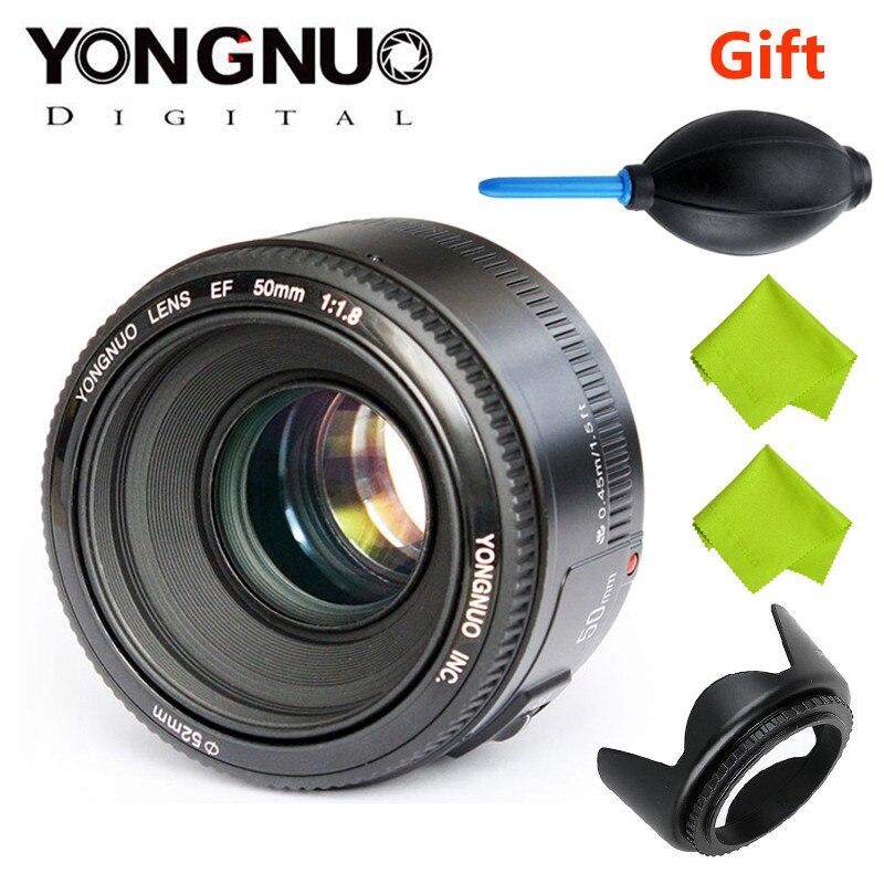 YONGNUO YN50mm f1.8 YN EF 50mm f/1.8 AF objectif YN50 ouverture mise au point automatique pour les appareils photo reflex numériques Canon EOS