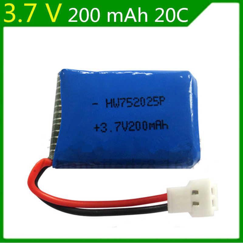 3.7V 200mAh Syma X4 X11 X13 télécommande avion batterie 3.7V 200mAh lithium batterie modèle avion 752025 3 pièces