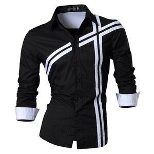 Image 1 - Jeansian bahar sonbahar özellikleri gömlek erkekler günlük kot gömlek yeni varış uzun kollu Casual Slim Fit erkek gömlek Z006