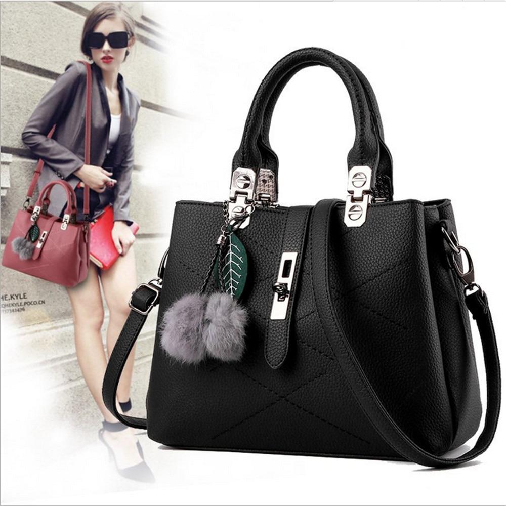 ФОТО New hair ball handbag fashion ladies simple women bags Europe and the United States across the shoulder bag 2116-1