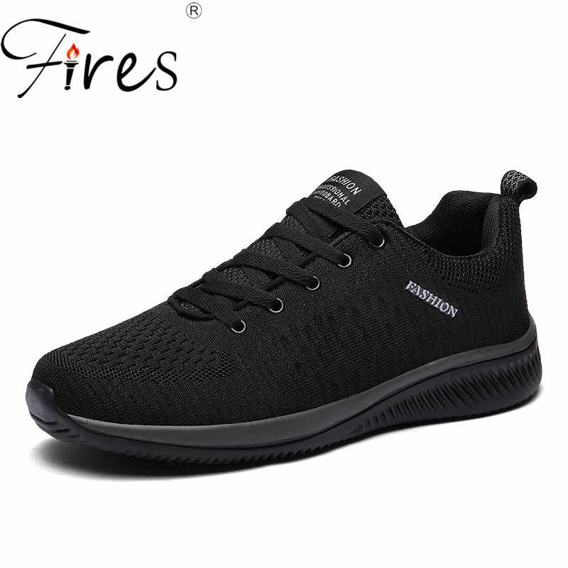 2369cb429 Fires Men Fashion Shoes Sneakers Brand Breathable Flat ShoesTrend Male  Outdoor Men Casual Shoes Soft Lightweight