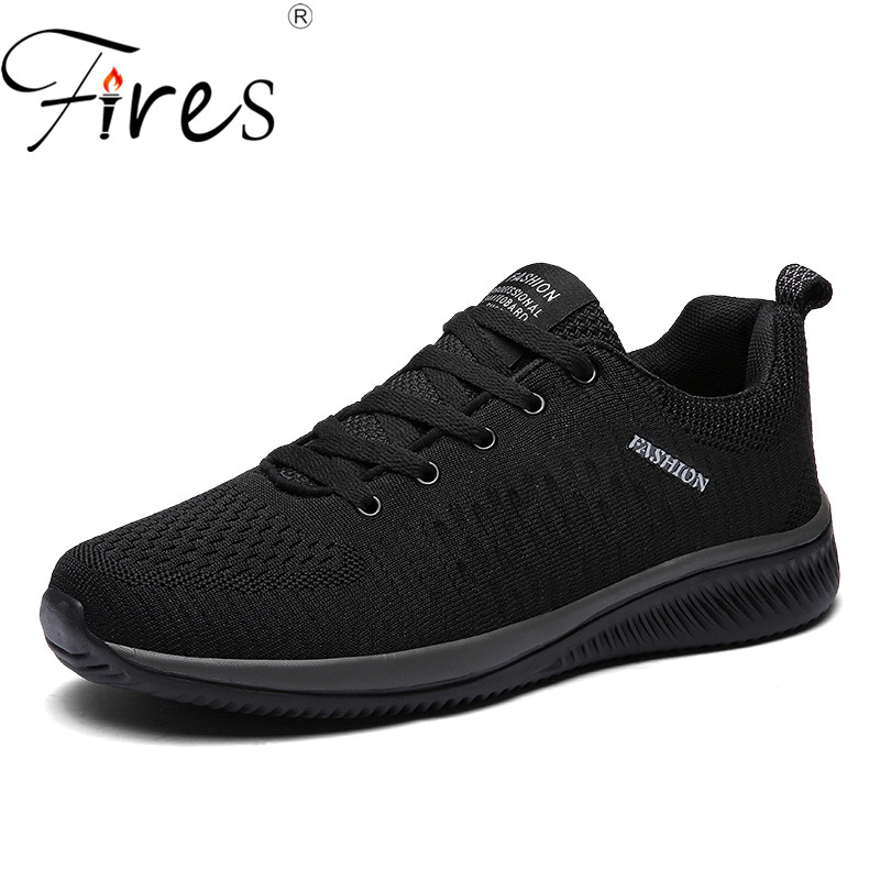 Fires Men Fashion Shoes Summer Mesh Breathable Flat ShoesTrend Male Outdoor Men Casual Shoes Soft Lightweight Man Black Shoes fires men casual shoes fashion black white loafer shoes male breathable cool flat shoes high top man s outdoor sneakers