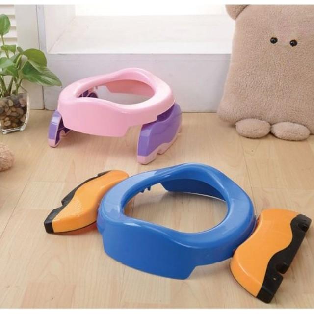 Toda la venta del bebé muchachas de los muchachos de lavado higiénico inodoro plegable estilo lindo kids plegable inodoro envío libre