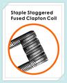GeekVape Grapa Escalonada Fundido Clapton Bobina (2 unids/pack) cigarrillo electrónico vape bobinas de algodón original de ajuste para DIY fácil para utilizar