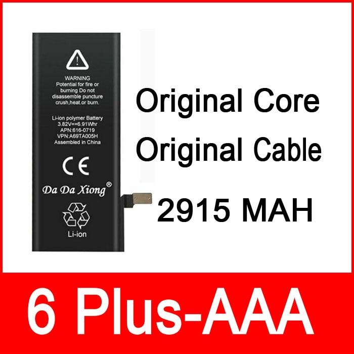 """imágenes para 10 unids/lote Original 2915 mAh Núcleo junta de Protección 3.82 V Cero cíclica de La Batería para el iphone 6 6G Más 5.5 """"reparación de piezas de 6 Plus-AAA"""