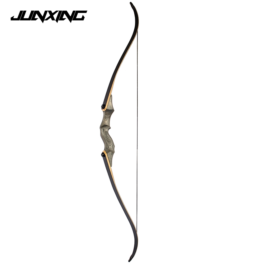 58 inches 30-55 LBS Recurve Bow Dark Green Riser for Right Hand User Archery Hunting Shooting