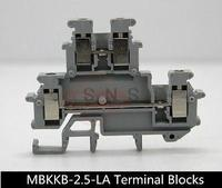 50Pcs MBKKB 2 5 LA DIN Rail Connector Terminal Blocks Phoenix Type