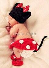 Handmade NEW Toddler Baby Beanie Costume Handmade Mickey Sets Taking Photography Props Knit Crochet DEG Free shipping