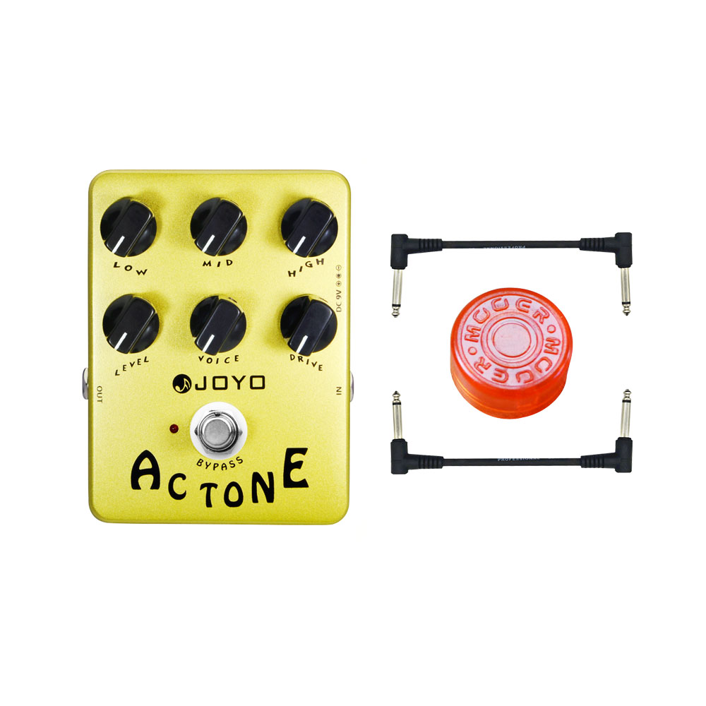 JOYO JF-13 AC Tone Vox Amp Simulator Guitar Effect Pedal Guitarra Parts True Bypass for Musical Instrument Electronic joyo jf 16 bypass design brithish sound guitar effect amplifier simulator pedal purple