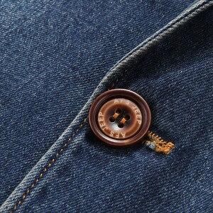 Image 5 - YIHUAHOO Casual Denim แจ็คเก็ตผู้ชายผ้าฝ้ายเสื้อ 3XL 4XL ชายเสื้อผ้าสไตล์ฤดูใบไม้ผลิฤดูใบไม้ร่วง Blazer เสื้อแจ็คเก็ตผู้ชาย