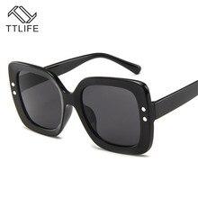 TTLIFE Oversized Square Sunglasses Women Brand Designer Clear Lens Sun Glasses Female Butterfly Big Frame Party Eyewear YJHH0116