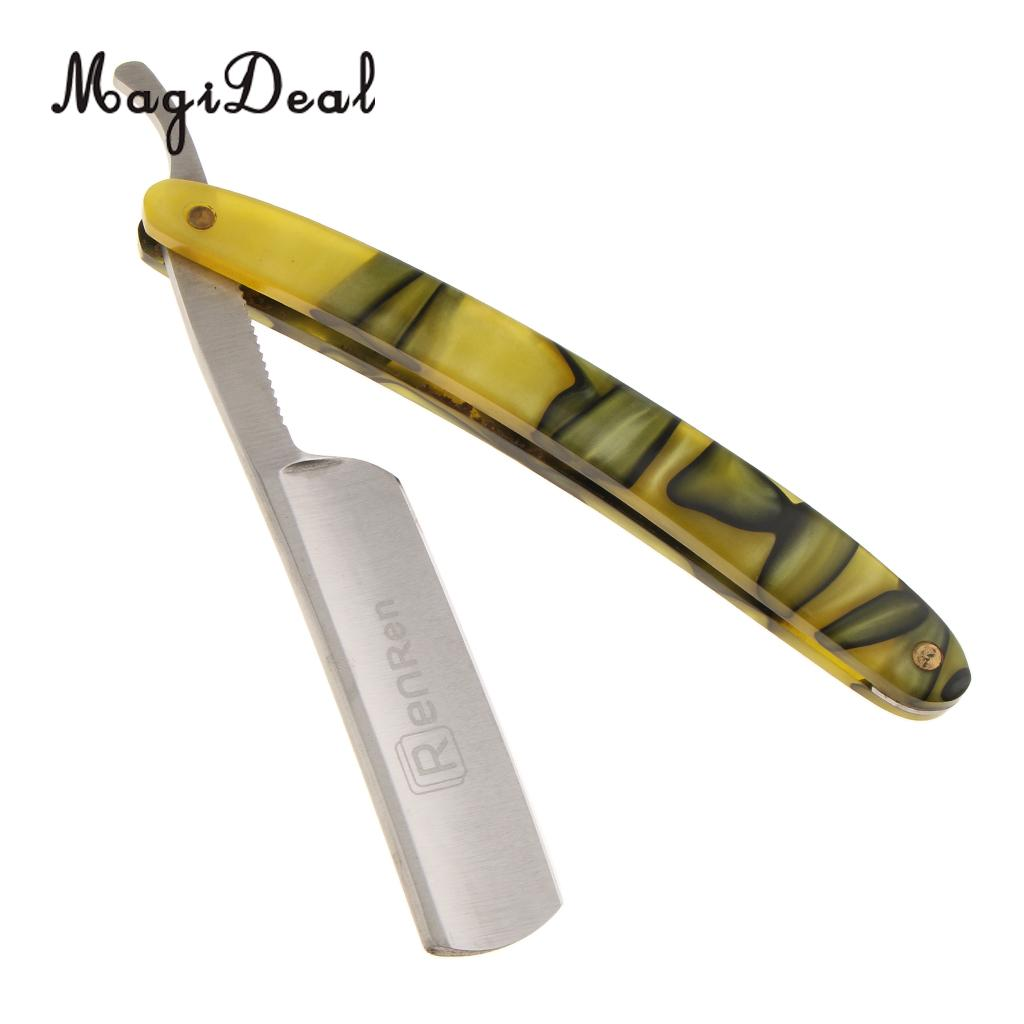 MagiDeal <font><b>Stainless</b></font> <font><b>Steel</b></font> <font><b>Straight</b></font> Edge Folding Shaving high quanlity <font><b>Razor</b></font> Barber <font><b>Manual</b></font> Shaver for Beard <font><b>Hair</b></font> <font><b>Cut</b></font> Personal Care