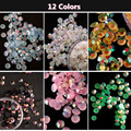 Hot 4MM Jelly AB Rhinestones Mobile Phone Beauty Decorations / DIY Nail Art Materials Flat Diamonds