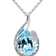 Прекрасный подарок Продвижение качество популярный австрийский кристалл капли воды кулон дизайн ожерелье Модные ювелирные изделия