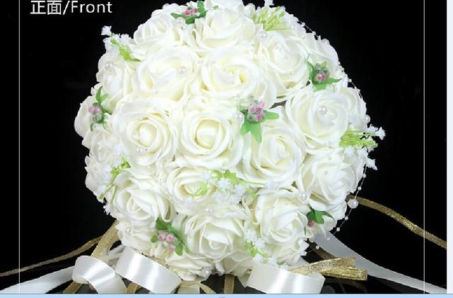 2017 Barato en Stock Nueva Llegada Colorido dama de Honor Nupcial de La Flor Ramo De La Boda Ramo de Flores Artificiales Novia Buque de noiva