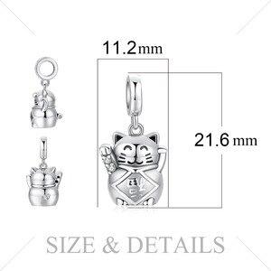 Image 5 - JewelryPalace şanslı kedi 925 ayar gümüş boncuk Charms gümüş 925 orijinal için bilezik gümüş 925 orijinal takı yapımı için