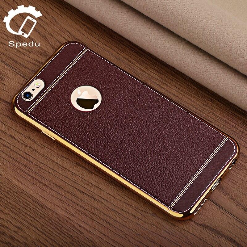 spedu личи зерна роскошные покрытие ТПУ силиконовый чехол для мобильного телефона iphone 6 6 s плюс 7 покрытие кадра прозрачная крышка для iphone6 7