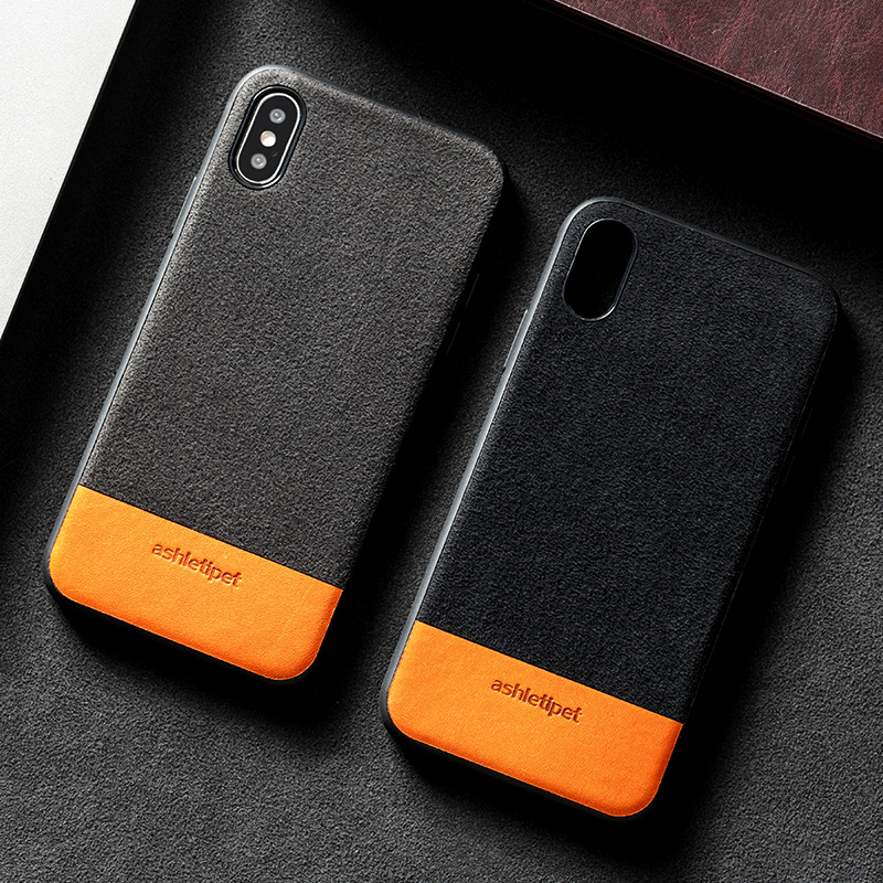 Genuine Leather Phone Case For iPhone X 7 7Plus 8 8Plus Case Suede and Cowhide Stitching Back Cover For 6 6S Plus 5 5se 5S Case