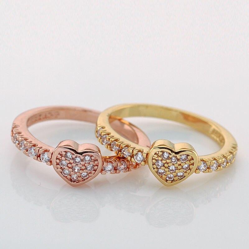 2014 Promise Heart Wedding Ring Set Jewelry Women Bridal Rings ...