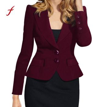 Women's Formal Suites Office Ladies Slim Fit Jacket