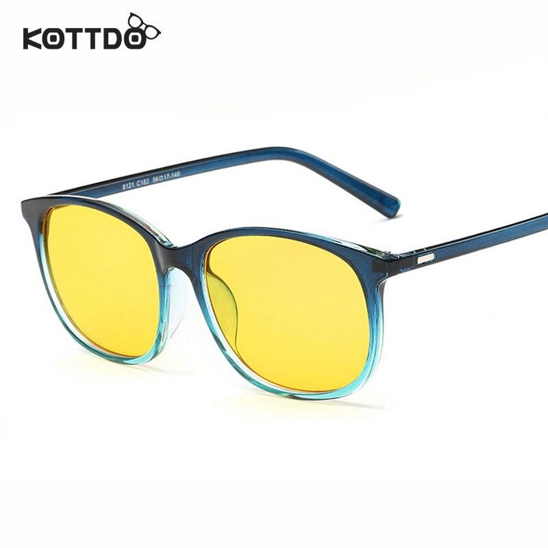 Big Blue Glasses Frames : KOTTDO Big Frame Computer Eyeglasses Radiation Protection ...