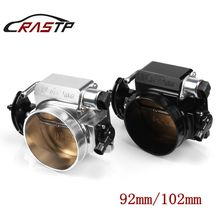 RASTP - High Flow Billet Aluminum 92mm/102mm Throttle Body For LS1 LS2 LS3 LS6 LSX Car Modification Parts Black/Silver RS-THB001