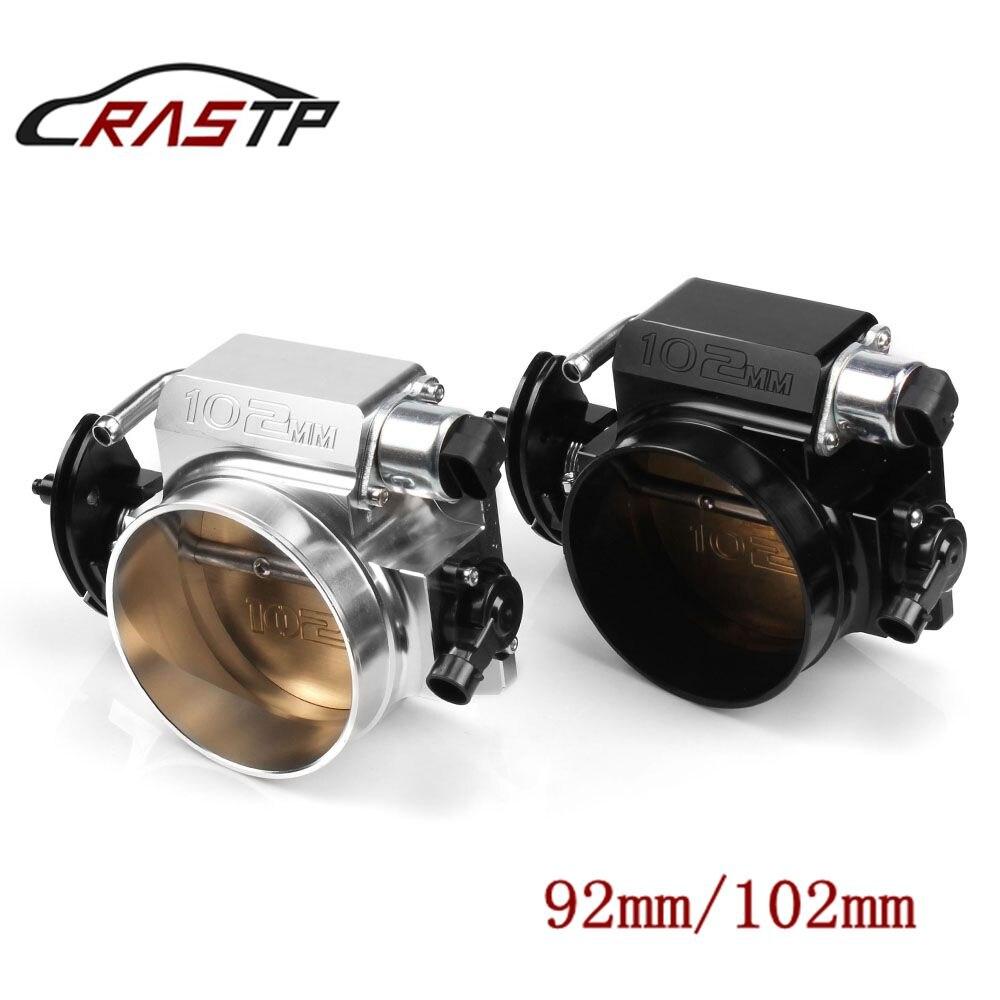 RASTP Yüksek Akış Kütük Alüminyum 92mm/102mm Gaz Kelebeği Gövdesi Için LS1 LS2 LS3 LS6 LSX Araba modifikasyon Parçaları Siyah/Gümüş RS-THB001
