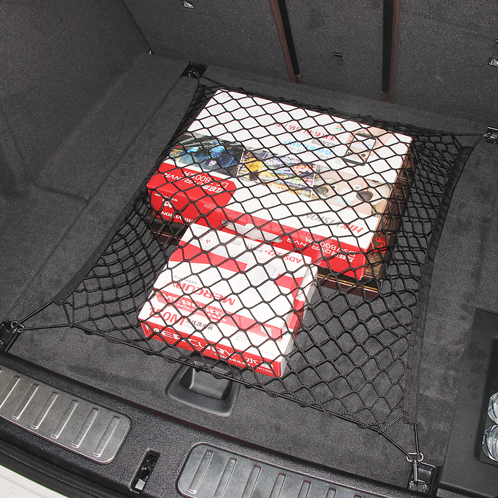 Car Mesh Cargo Net Holder Trunk Auto Elastic Storage 4 Hook For Nissan X-Trail Qashqai Teana Tiida Sunny Juke car accessories