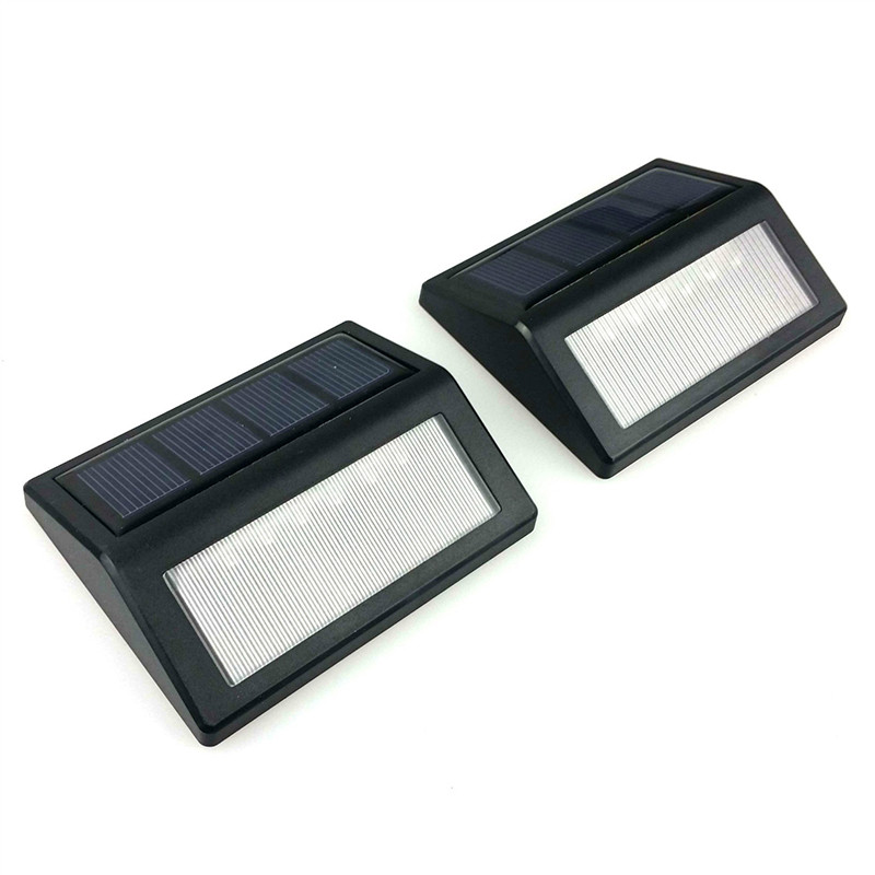 oobest 2PCS/Set 6 LED Solar Light Solar Power PIR Motion Sensor Wall Light Outdoor Waterproof Garden Street Courtyard